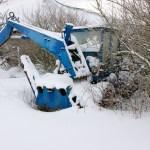 Bild: Winter 2010/2011 - Kran in Greifenhagen.