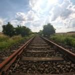 Bild: Schienen der ehemaligen Bahnstrecke Helmsdorf - Hettstedt.