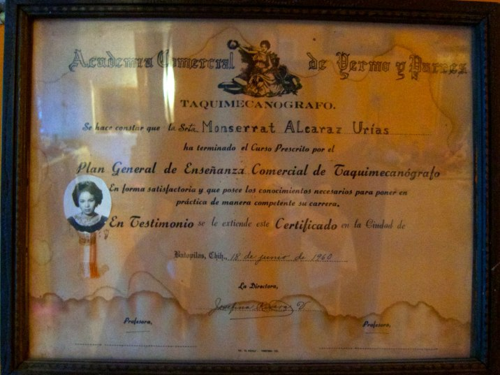 A certificate from 1960.