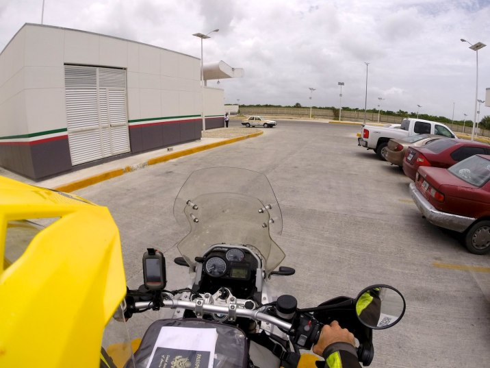 Provided everything went as planned, go left out of the parking lot for the border to Belize.