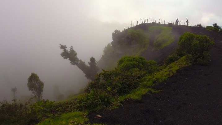 The clouds and rain roll in, creating this mystic wonderland of rock and plant life.