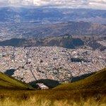 Only mountains limit the Quito sprawl.