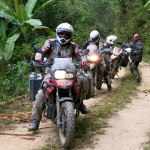 A team of adventure riders with Ecuador Freedom Bike Rental catch up to me on the road.