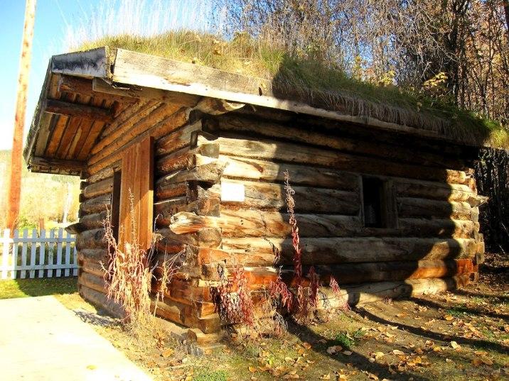 Half of Jack London's cabin (hint: it's the bottom half).