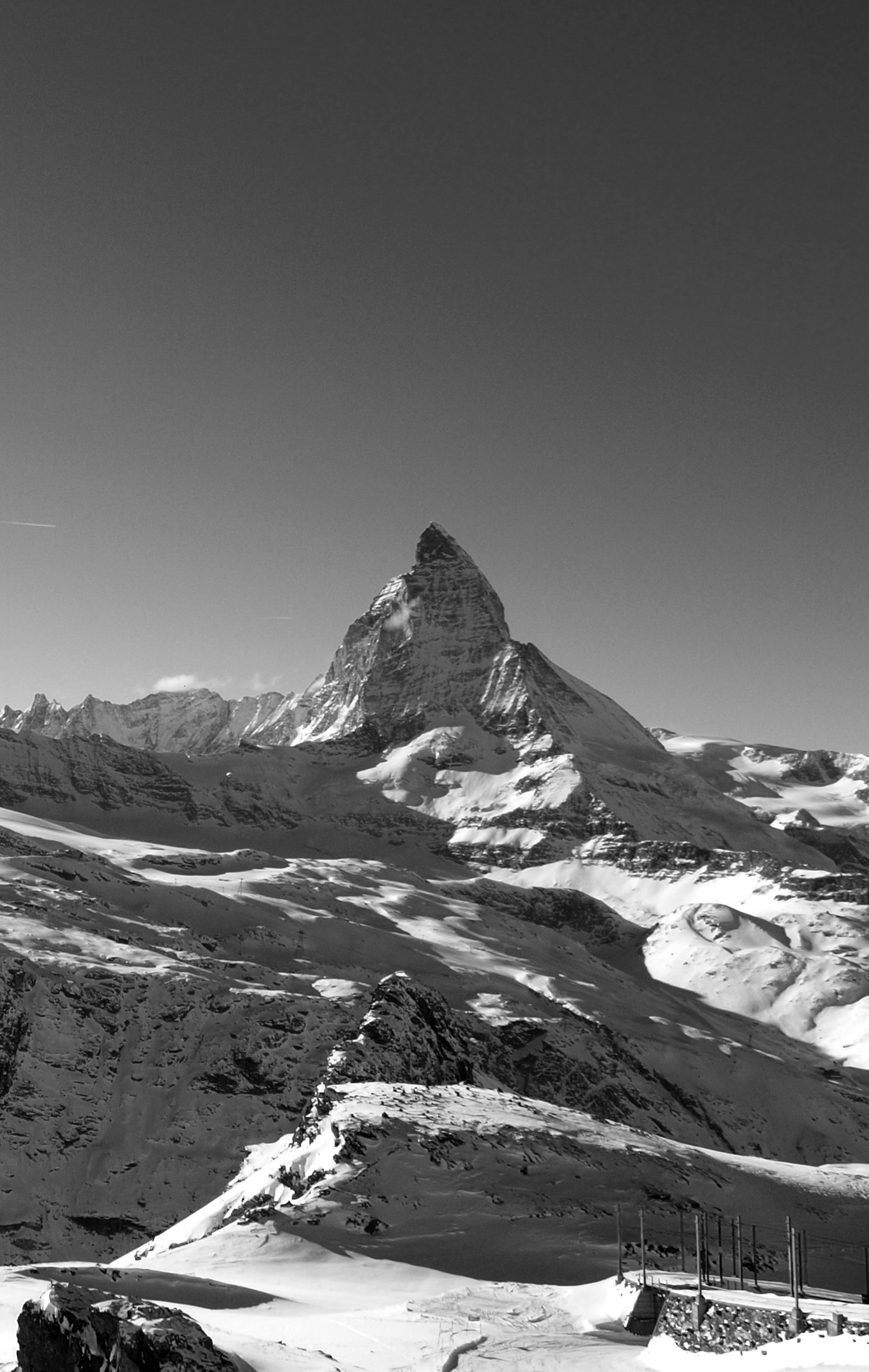 Black and White Matterhorn  HASAYANGS TRAVEL AND PHOTOS