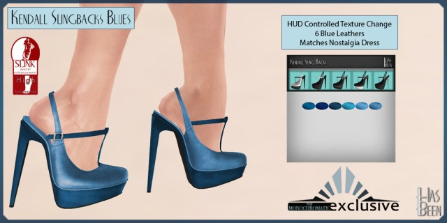 Has Been - Kendall Slingbacks Blues for Monochromatic Fair