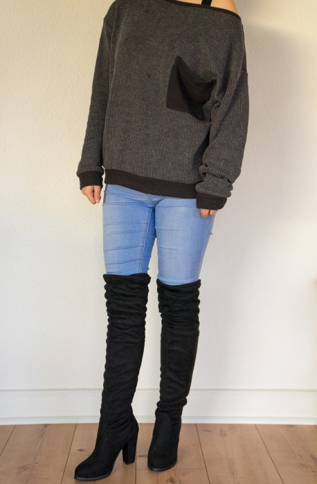 Overkneestiefel Overknee Stiefel untergröße kleine Frauen casual 2