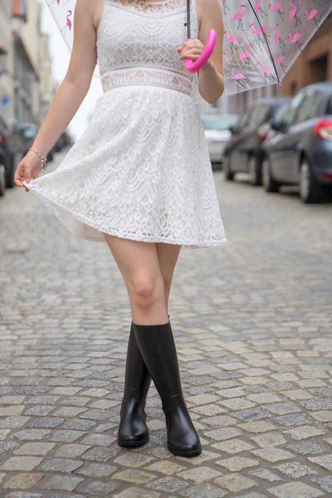 Meduse Gummistiefel Kleid Stadt Outfit
