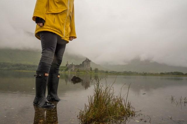 Hunter Kids Gummistiefel Highlands Kilchurn Castle 2