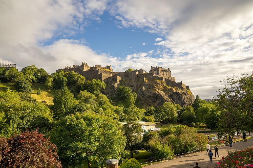 Schottland Edinburgh Schloss Old Town