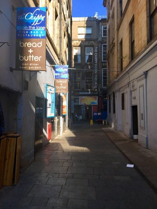 Schottland Glasgow Fish Chips