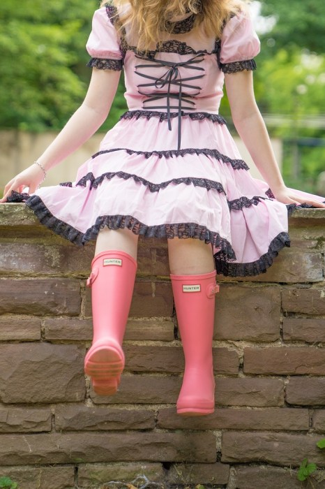 Cosplay Lolita Hunter Gummistiefel