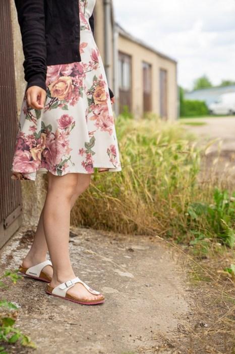 Birkenstock Gizeh Sommerkleid Outfit