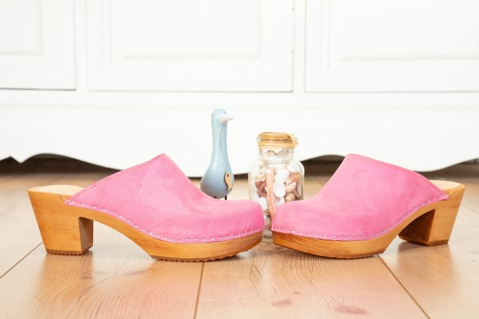 me&myClogs Liv Wildleder Clogs Pink Absatz
