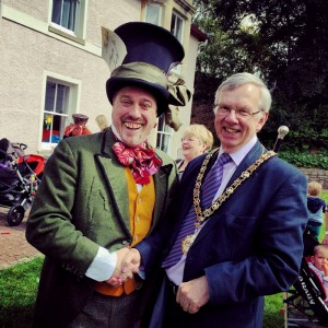 The Mad Hatter and the Mayor of Penarth