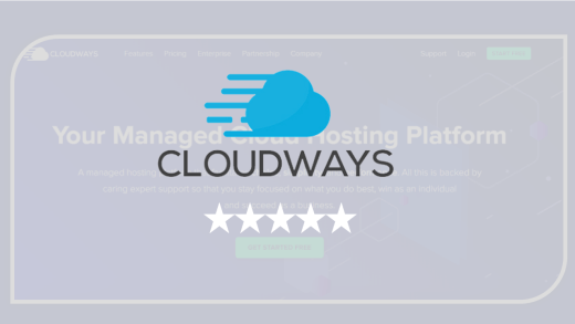 Cloudways Review - logo 5 star rating