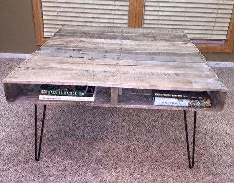 Pallet Table Front