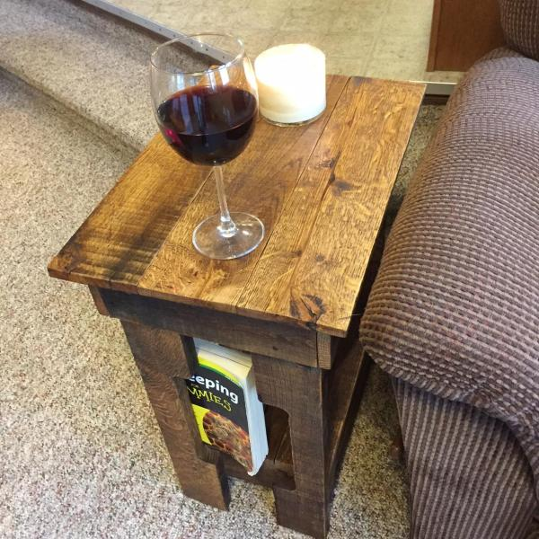 Pallet Side Table - Medium Walnut End