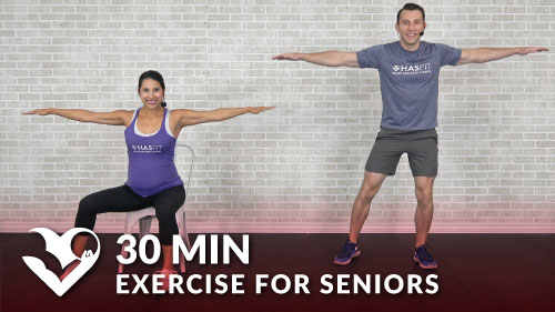 30 minute chair workout for seniors office chairs high back min senior routines standing seated exercise elderly older people