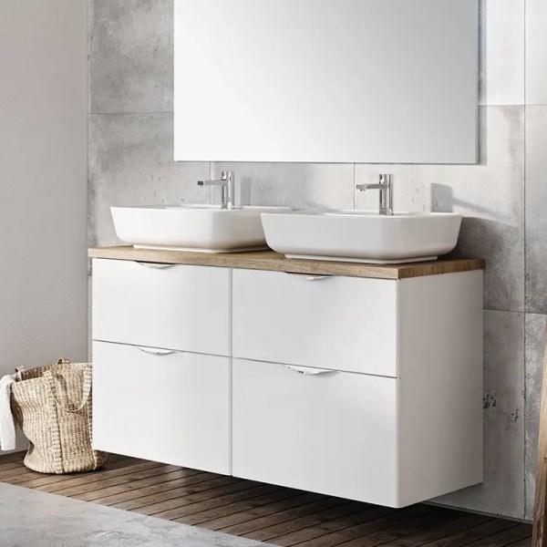 szafka łazienkowa z blatem dąb 120 cm