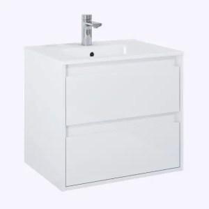 Szafka łazienkowa bezuchywtowa z umywalką 60
