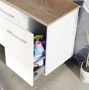 szafka łazienkowa z cargo na detergenty