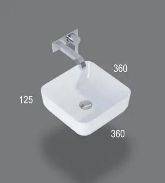 Umywalka nablatowa 36 cm
