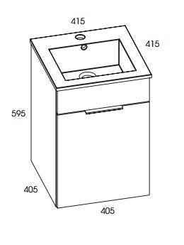 rozmiar szafka z umywalka qubo 40