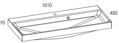 rozmiar umywalka konglomeratowa aero 100 elita