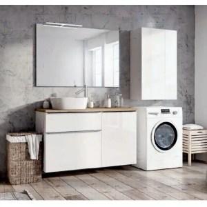 szafka łazienkowa z koszem na pranie