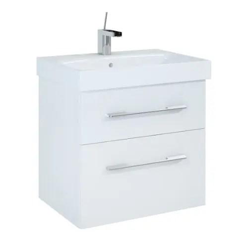 szafka z umywalka baracelona 60 biala lakier polysk white elita