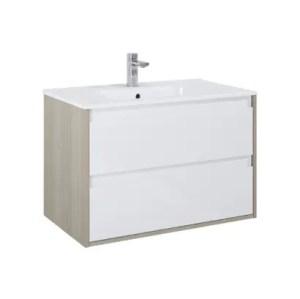 szafka z umywalka desi plus 80 2s white sandygrey elita bialo szara