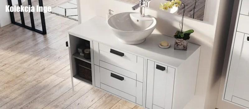 szafka pod umywalkę nablatową głębokość 46 cm  INGE
