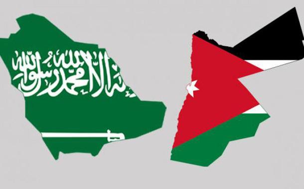 خريطة الأردن والسعودية