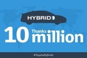تويوتا تبيع 10 ملايين مركبة هايبرد