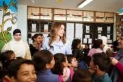 الملكة رانيا العبدالله تزور مدرسة الرباحية الشمالية الثانوية المختلطة