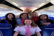 أميركا: تدشين أول رحلة جوية بطاقم نسائي كامل