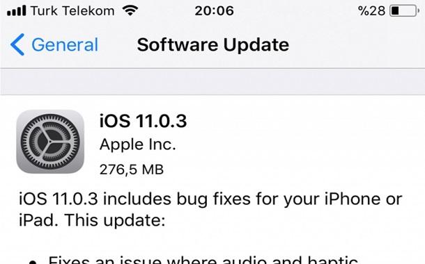 نظام iOS 11.0.3 متوفّر الآن للتحميل لمُستخدمي أجهزة آبل الذكية