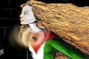 عهد التميمي رمزا للمواجهة على مواقع التواصل