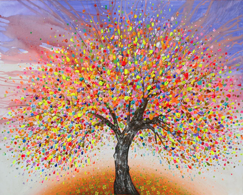 wine design painting tree