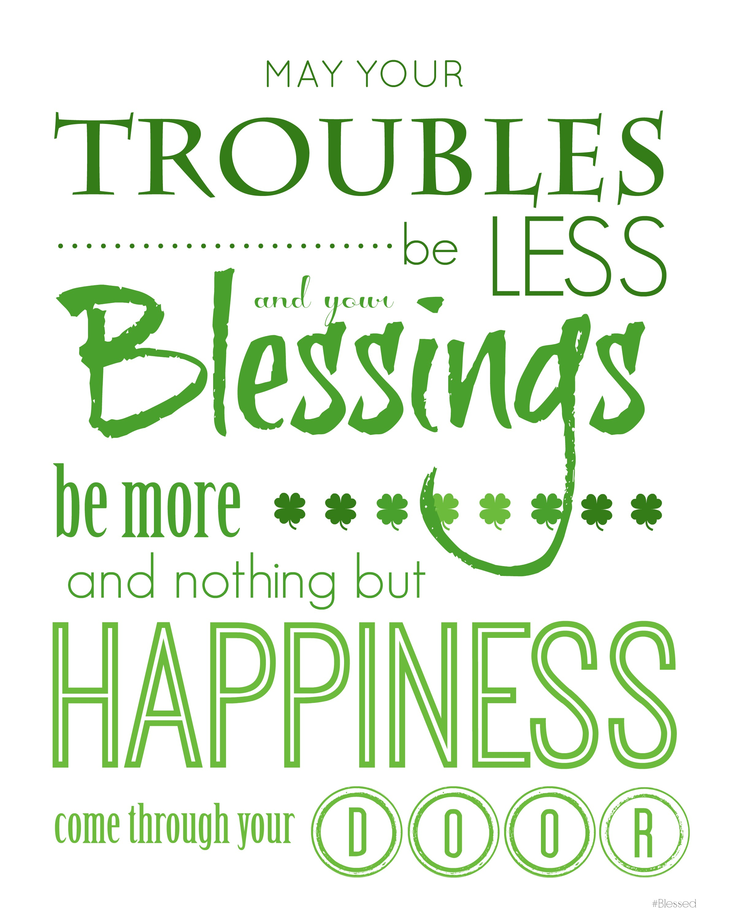Irish Blessing Printable - HashtagBlessed