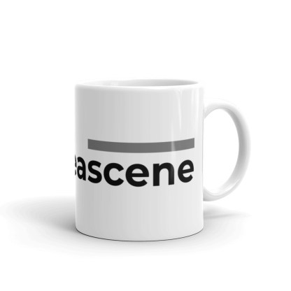 #causeascene 11oz mug — right view