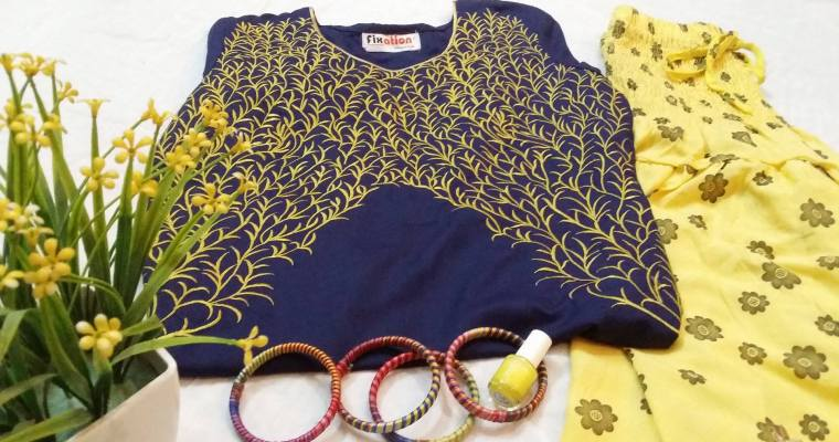 Outfit of the Day: Lets color the Monday Blue and Yellow
