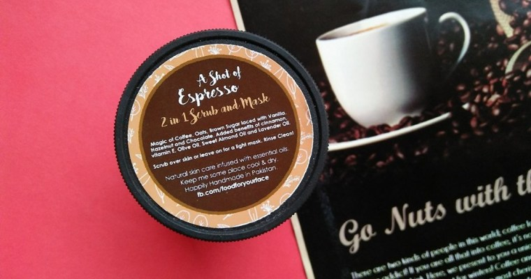 "Coffee Scrub Mask, ""A Shot of Espresso"" by Food For Your Face"