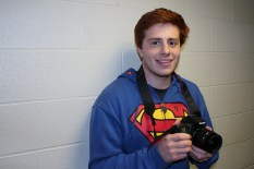 Ethan Burch poses with the camera he uses for W3 Productions. (Provided by Christian Herrera)