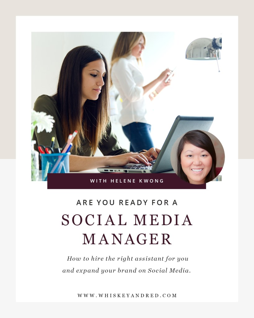 Learn how to work with a social media manager on Whiskey & Red's blog.