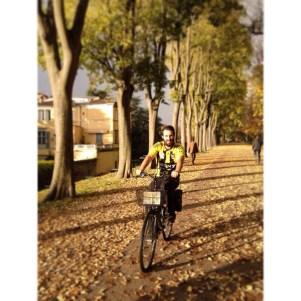 Mr. Kiss on bike