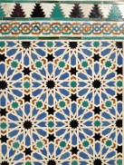 Amazing tiles at the Alcazar in Seville