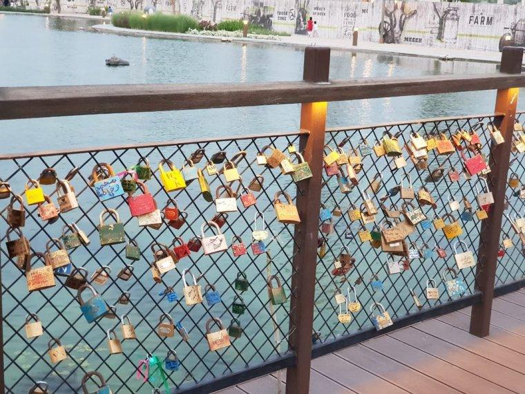 Love Lock Bridge Dubai the Yard