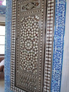 Topkapi Palace, tile detail and Egyptian mother-of-pearl inlay. Sultan's quarters in Istanbul, Turkey